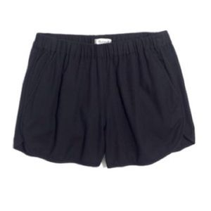 Madewell black pull on shorts